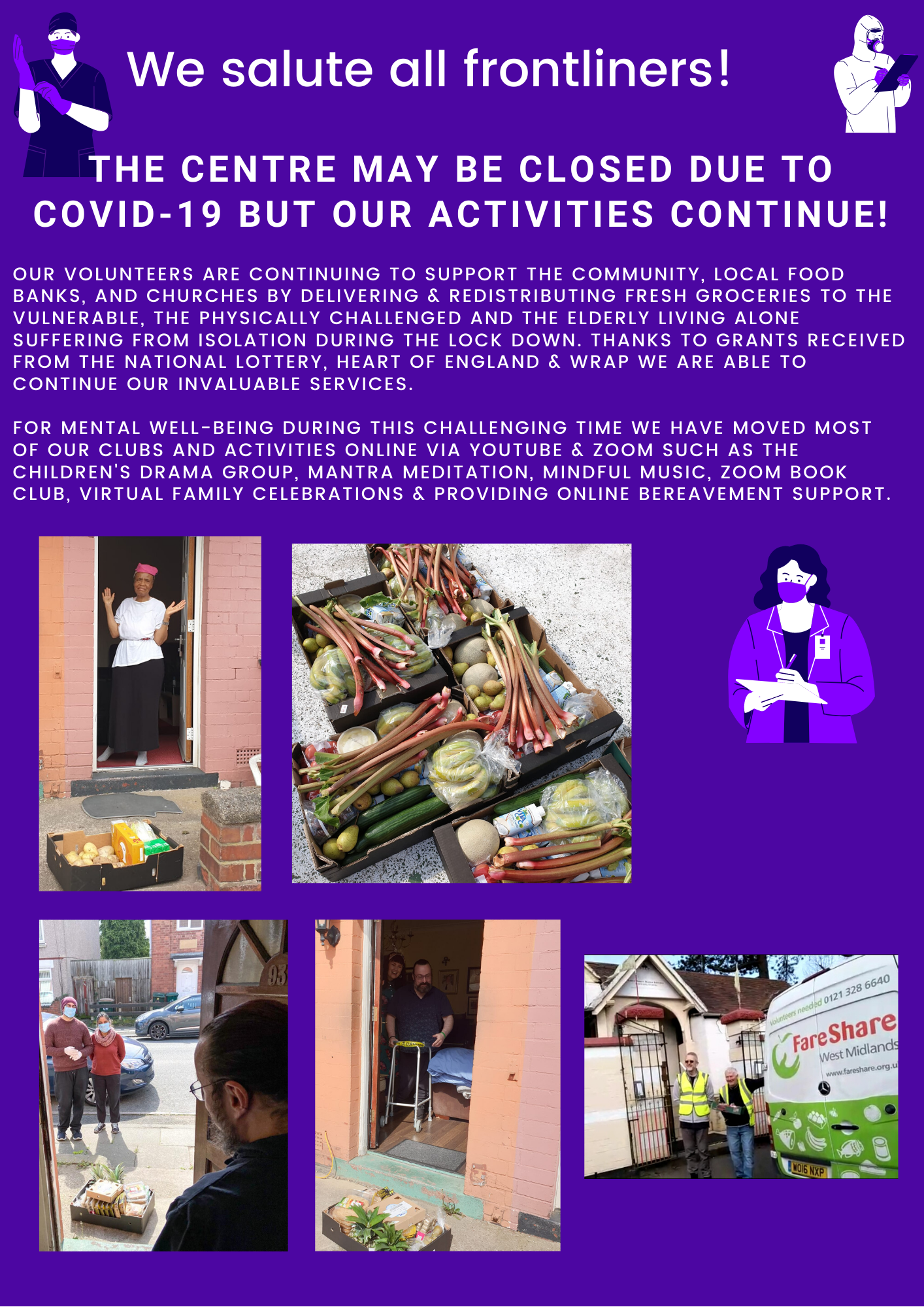 Supporting for COVID-19